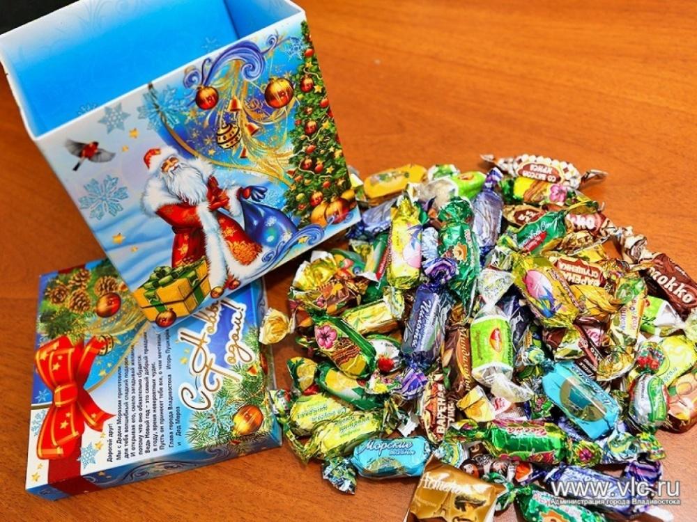 Состав детских Новогодних подарков СладКо конфеты 37
