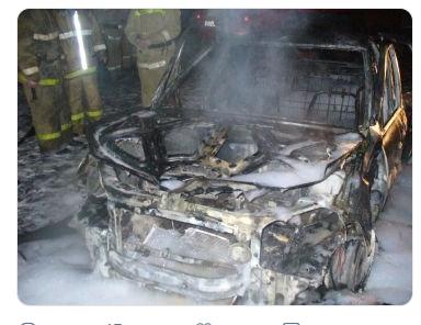 Две машины сгорели сегодняшней ночью в Киндяковке