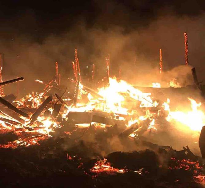 Ферма выгорела за 15 минут, погибли коровы и телята: подробности пожара в Николаевском районе