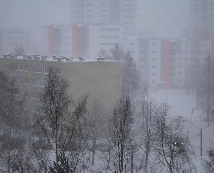 На Ульяновск надвигается метель, которая принесет похолодание